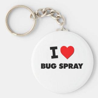 Amo el aerosol de insecto llaveros