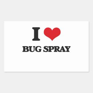 Amo el aerosol de insecto rectangular altavoz