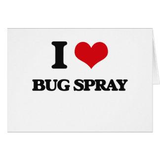 Amo el aerosol de insecto felicitacion