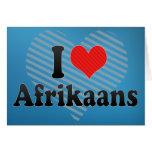 Amo el africaans tarjeton