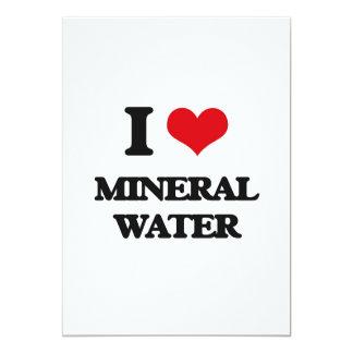 Amo el agua mineral invitación personalizada