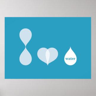 Amo el agua poster