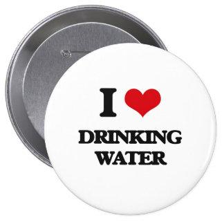 Amo el agua potable