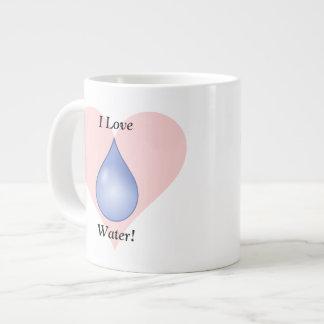 ¡Amo el agua! Tazas Extra Grande