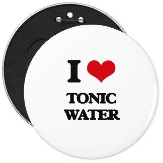 Amo el agua tónica pin redondo 15 cm