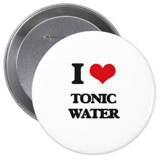 Amo el agua tónica pin redondo 10 cm