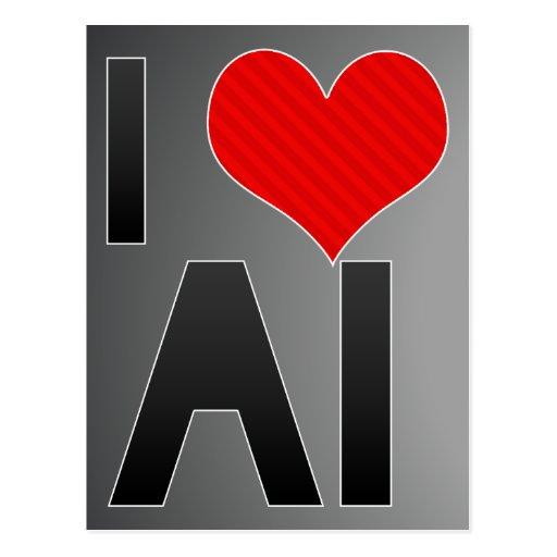 Amo el AI Postales