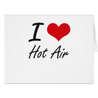 Amo el aire caliente tarjeta de felicitación grande