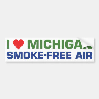 Amo el aire sin humos de Michigan Pegatina Para Auto