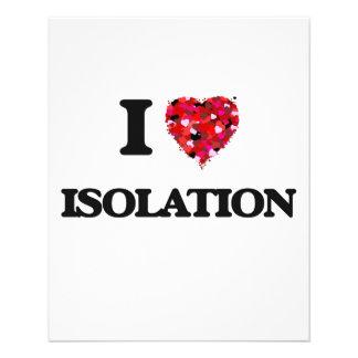"""Amo el aislamiento folleto 4.5"""" x 5.6"""""""