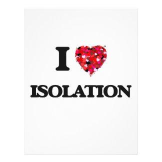 """Amo el aislamiento folleto 8.5"""" x 11"""""""
