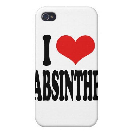 Amo el ajenjo iPhone 4/4S carcasa