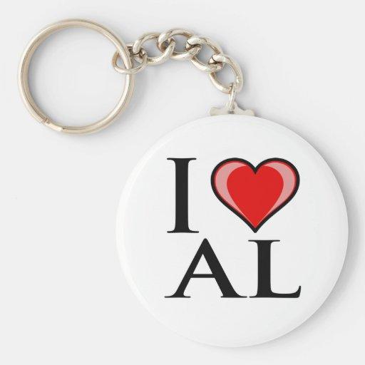 Amo el AL - Alabama Llaveros Personalizados