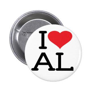 Amo el AL - botón redondo Pin Redondo De 2 Pulgadas