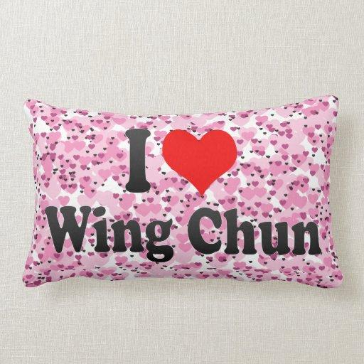 Amo el ala Chun Cojines