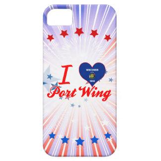 Amo el ala de puerto, Wisconsin iPhone 5 Protector
