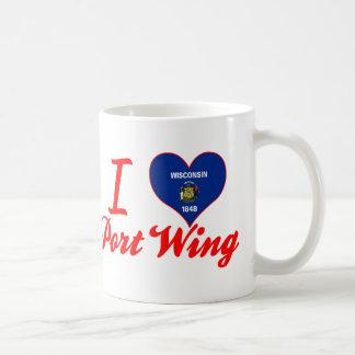 Amo el ala de puerto, Wisconsin Taza De Café