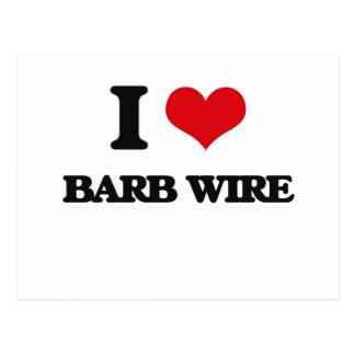 Amo el alambre de Barb Postal