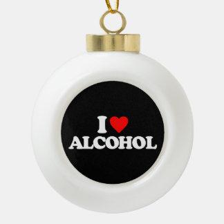 AMO EL ALCOHOL ADORNO DE CERÁMICA EN FORMA DE BOLA