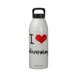 Amo el alegrar botellas de agua reutilizables