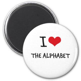 Amo el alfabeto imán de frigorífico