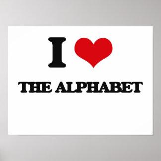 Amo el alfabeto póster
