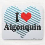 Amo el Algonquin Tapetes De Ratones