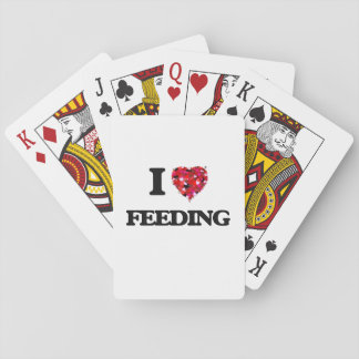 Amo el alimentar cartas de juego