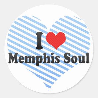 Amo el alma de Memphis Pegatina Redonda