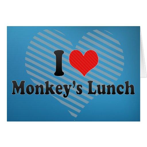 Amo el almuerzo del mono felicitaciones