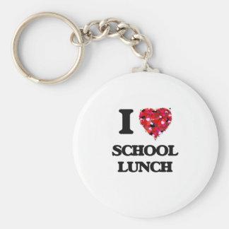 Amo el almuerzo escolar llavero redondo tipo pin