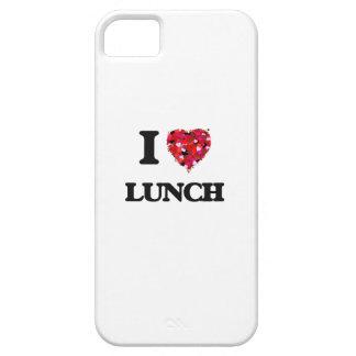 Amo el almuerzo funda para iPhone 5 barely there