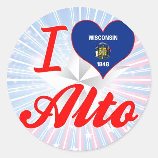 Amo el alto, Wisconsin Etiqueta Redonda