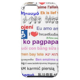 Amo el amamantar del caso multi del iPhone iPhone 5 Case-Mate Carcasas