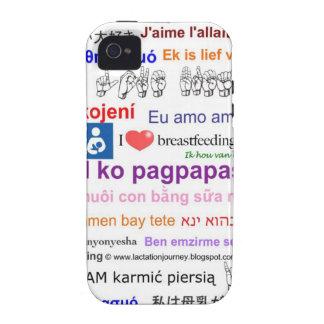 Amo el amamantar del caso multi del iPhone iPhone 4/4S Funda