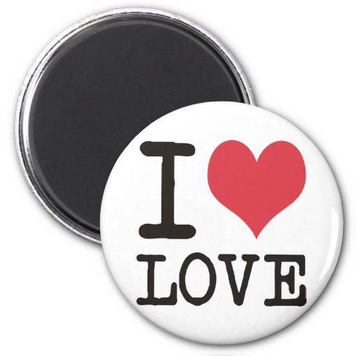 ¡Amo el AMOR - KOSHER - los productos y los diseño Imán De Frigorífico