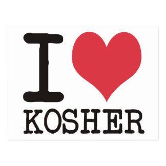 ¡Amo el AMOR - KOSHER - los productos y los Postal