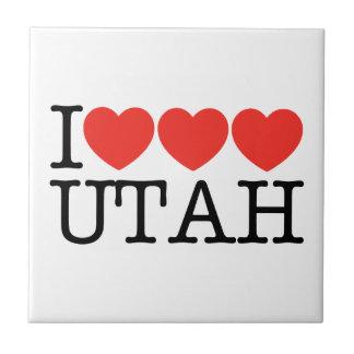 ¡Amo el amor UTAH del amor! Azulejo Cuadrado Pequeño