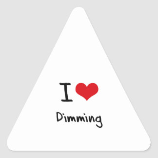 Amo el amortiguar calcomania triangulo