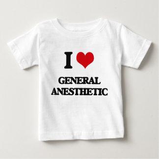 Amo el anestésico general playeras