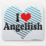 Amo el Angelfish Alfombrillas De Ratón