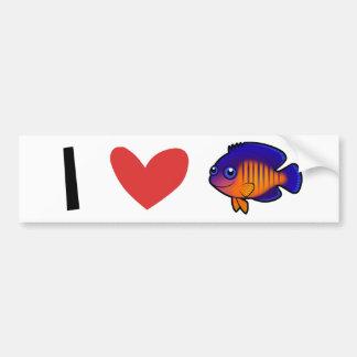 Amo el Angelfish Pegatina Para Auto