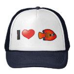Amo el Angelfish de la llama Gorros