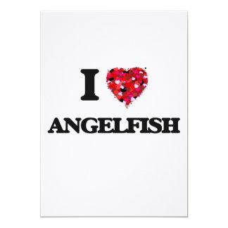 """Amo el Angelfish Invitación 5"""" X 7"""""""