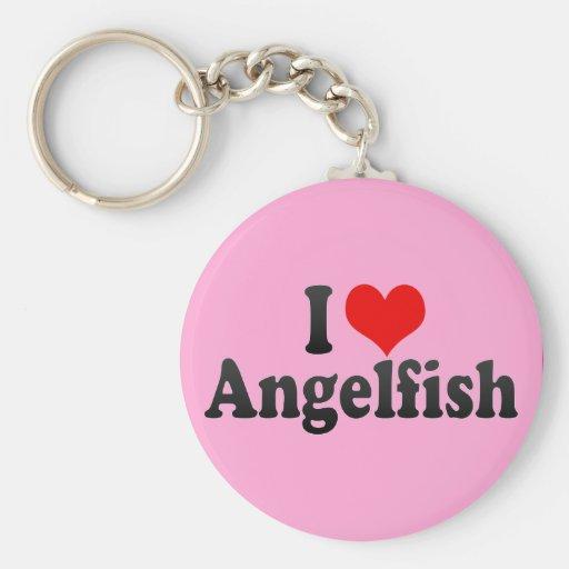 Amo el Angelfish Llaveros