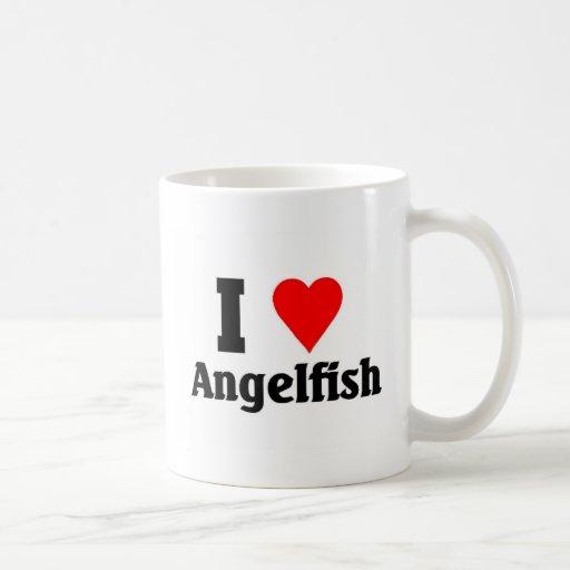 Amo el Angelfish Tazas De Café