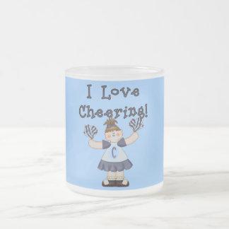 Amo el animar de las camisetas y de los regalos taza de cristal