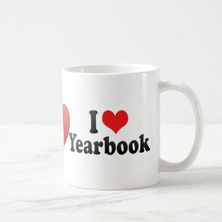 Amo el anuario tazas de café
