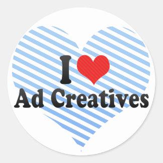 Amo el anuncio Creatives Pegatina Redonda