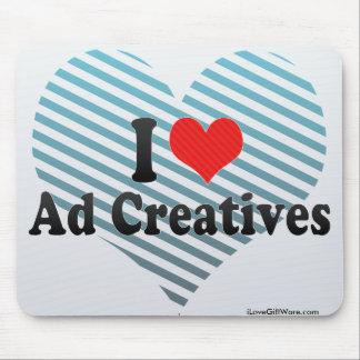 Amo el anuncio Creatives Tapetes De Ratones